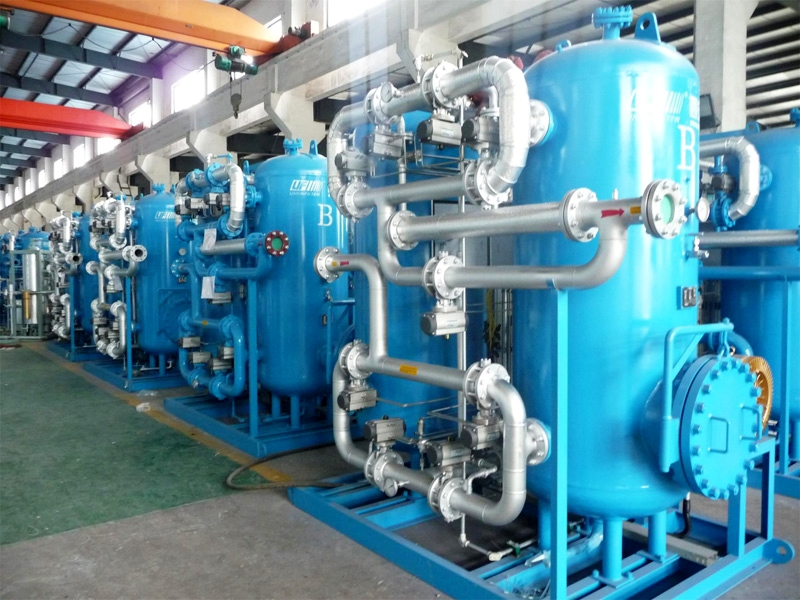 新型鼓风外加热零气耗吸附式干燥器陆续发往魏桥铝电