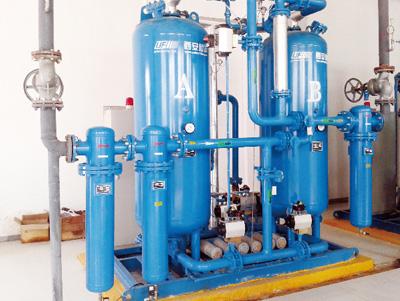 External blower heating adsopt dehydration